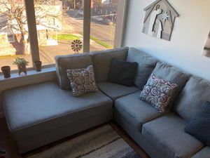 2-Piece Sectional with Chaise for Sale in Portland, OR