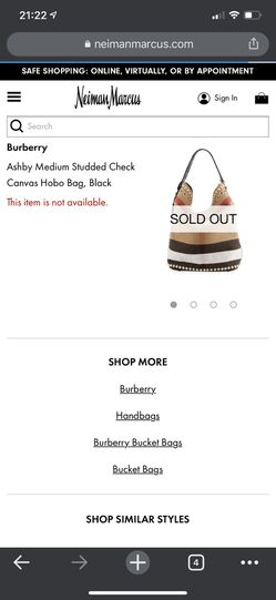 Burberry Ashby Hobo Bag for Sale in Wichita,  KS