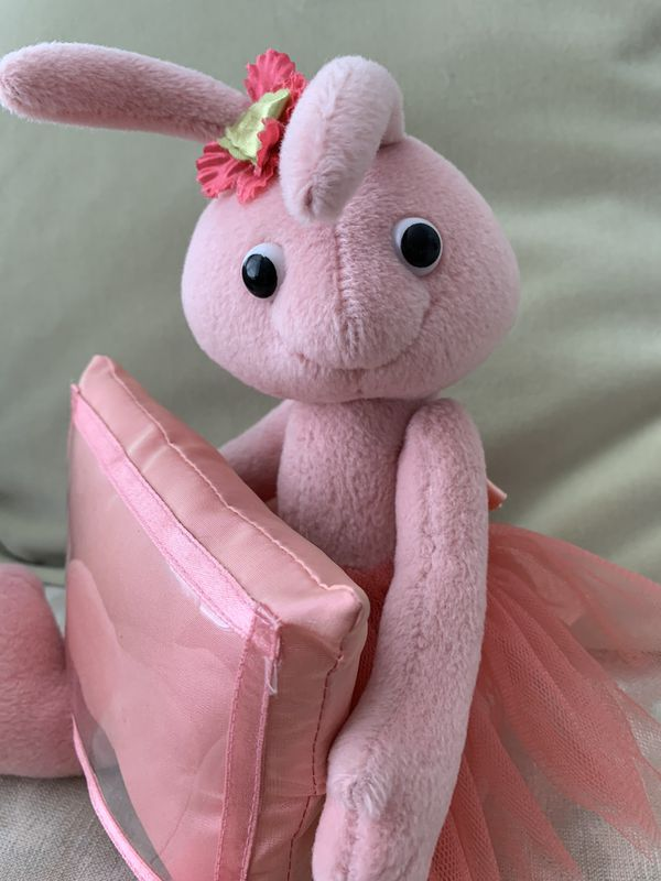 Girly Pink Rabbit w/picture frame