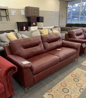 Brand New! Red Sofa by Ashley. No Down Payment with Financing! No interest charge if paid full in the first 90 days. 2 Available. $399 Each or $749 f for Sale in Norfolk, VA