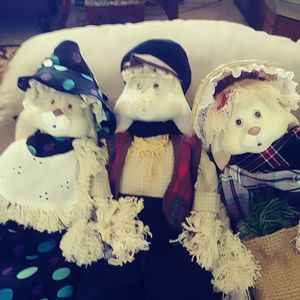 Sell as a lot grandma grand pa an fossil porcelin heads all rabbits house of lloid for Sale in US