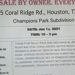 Estate Sale. MSG For apt To go look At Last 2 items. for Sale in Houston, TX