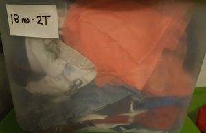 Kids clothes -tub full - Girl and boy - 18months to 2T for Sale in Alpharetta, GA