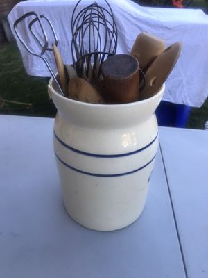 Ceramic container and kitchen utensils for Sale in Rancho Cucamonga, CA