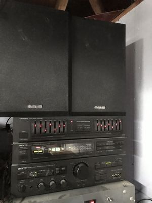 ONKYO system & Fisher speakers for Sale in Des Plaines, IL