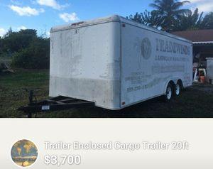 Trailer Enclosed Cargo trailer 20ft for Sale in Fort Lauderdale, FL