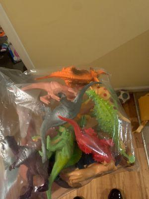 Plastic dinosaur toys for Sale in Hampton, VA