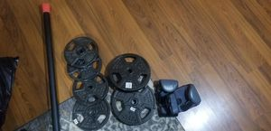 Plate weights and dumbbell for Sale in Ball, LA
