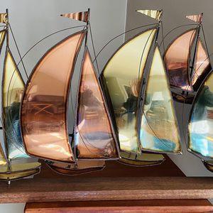 Nautical sailboat regatta theme metal sculpture for Sale in Huntington, NY