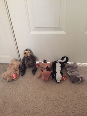 Classic TY Beanie Babies $5 each or $25 for the lot for Sale in Crofton, MD