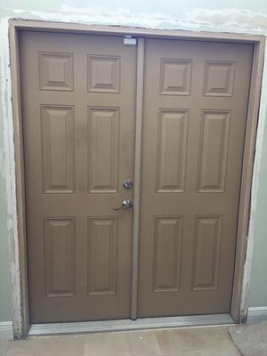 Distinction Double door 6 panels fiberglass with lock set for Sale in Dania Beach, FL