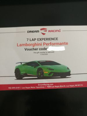 7 Lap Lamborghini Performance Driving Experience Dream Racing for Sale in Henderson, NV