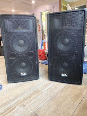 """SA-100T Pair of Dual 10"""" Pro Speakers for Sale in Miami, FL"""