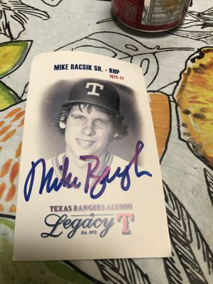 Signed Texas Rangers Cards and Baseball for Sale in Frisco, TX