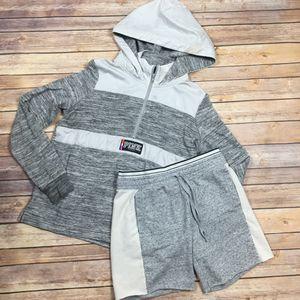 VS PINK   Grey Space Dye Rain 1/4 Zip Sweatshirt- SZ S for Sale in Las Vegas, NV