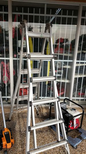 NO-NAME MULTI-POSITION EXTENSION A-FRAME LADDER for Sale in Webster, TX
