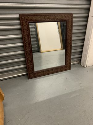 Brown Framed wall mirror for Sale in Los Angeles, CA