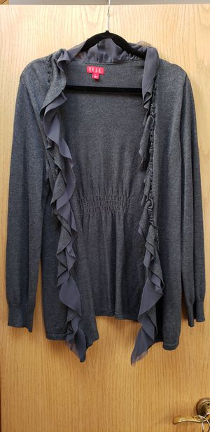 Elle open front cardigan sweater L for Sale in Chicago, IL