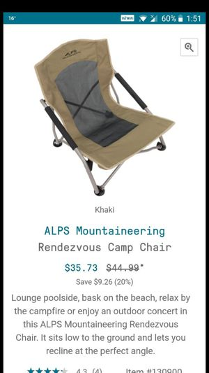 Camping chair low height for Sale in Chicago, IL
