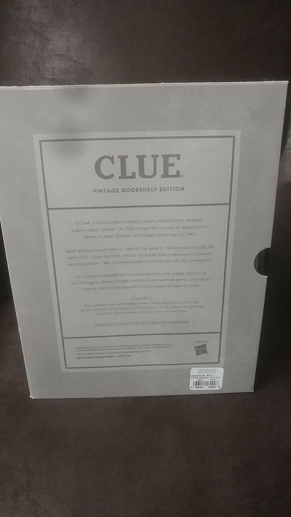 Vintage bookshelf edition Clue
