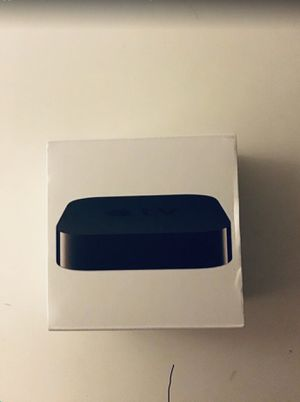 Apple TV with box and remote for Sale in Tarpon Springs, FL