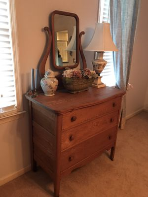 Antique oak dresser with mirror for Sale in West Columbia, SC