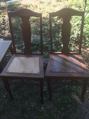 2 Vintage wooden chairs for Sale in Midlothian, VA