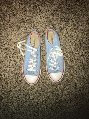 Women's light blue converse for Sale in St. Louis, MO
