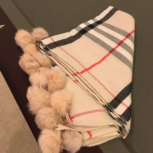 Authentic Burberry Cashmere Scarf Pom Pom. I also have Louis Vuitton bags for Sale in Riverside, CA