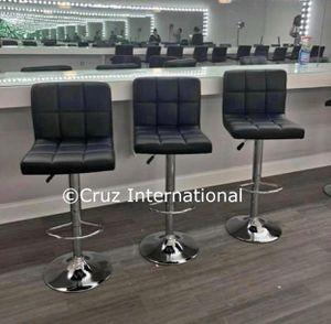 New 3 black bar stools for Sale in Orlando, FL