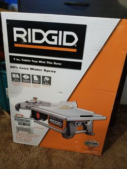 """RIDGID 7"""" Table Top Wet Tile Saw New for Sale in Stockton, CA"""