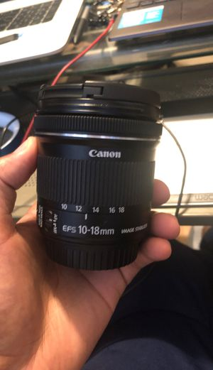 Cannon lens 10-18 mm for Sale in Tolleson, AZ