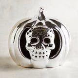 Halloween Silver Skull Pumpkin Tealight Holder for Sale in Pompano Beach, FL