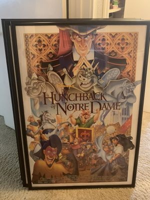 Framed Disney Movie Posters for Sale in Covington, WA