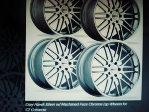 Cray Hawk wheels -chrome lips for Sale in Kent, WA