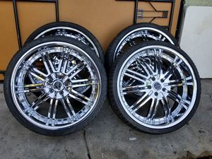 RIMS 245/30R22 ...5 LUGS FIT CHEVY IMPALA MUSTANG NISSAN ALTIMA NISSAN MAXIMA GRAN MARKIS FORD RANGER DODGE CHARGER DODGE MAGNUM CHRYSLER 300 for Sale in Phoenix, AZ