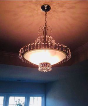 Chandelier with Crystals *PRICE FIRM* for Sale in Fort Washington, MD