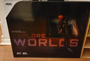 "Pro gaming monitor aoc 24"" curved 165hz !!! for Sale in Santa Ana, CA"