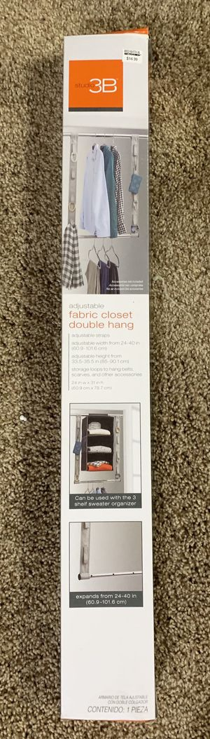 fabric closet double hang organizer for Sale in Foxcroft Square, PA