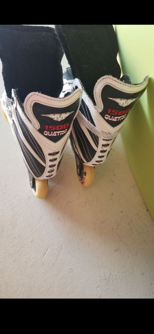 USED SIZE KIDS SIZE 4 MISSION 1500 QUATTRO INLINE SKATES for Sale in Delray Beach, FL
