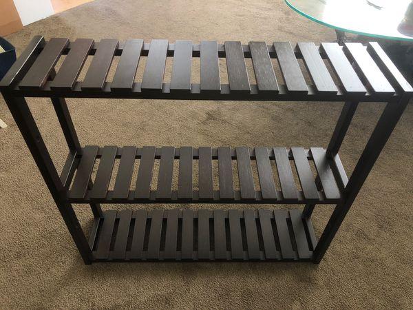 (2) DK Brown shelving unit (bathroom, hanging, closet, etc)