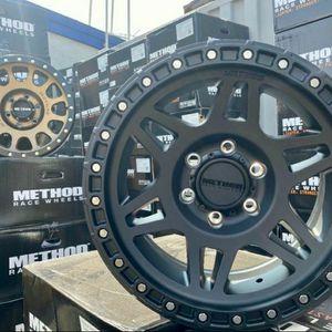 "METHOD WHEELS PACKAGES • 4 New 17"" Method NV Matte Black Rims • 4 Falken Wildpeak AT3 Tires Only $1499 for Sale in La Puente, CA"