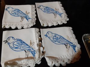 Vintage embroidered napkins for Sale in Brandon, FL
