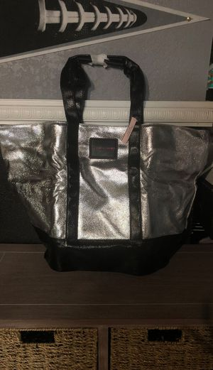 Victorias secret silver and black tote brand new for Sale in Las Vegas, NV