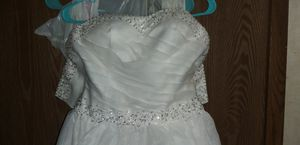 Sweetheart strapless wedding/prom dress size 2-4 for Sale in Hilliard, OH