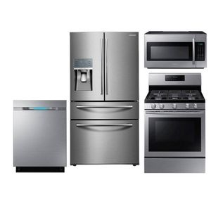 Save 40% Brand New Samsung 4 piece Stainless package one year warranty for Sale in San Ramon, CA