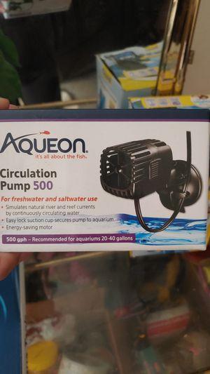 Aqueon circulation pump for 20-40 gallon tank for Sale in Lorain, OH