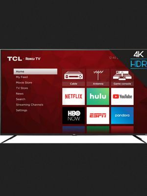 """TCL 75"""" 4K UHD TV LED Roku TV with HDR Brand New in Box for Sale in Chelmsford, MA"""