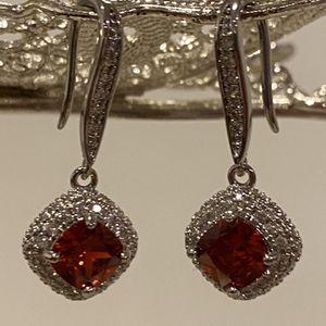 Silver Earrings - Red Stone for Sale in Dallas, TX