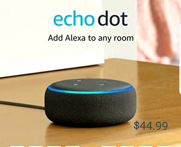 New never out of the box Echo Dot Gen 3